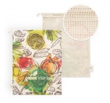 MB9011 - Cotton grocery bag with mesh on 1 side. Min 250 pcs